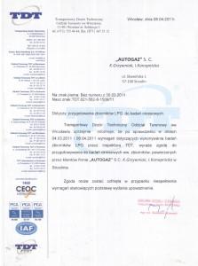 Upoważnienie Transportowego Dozoru Technicznego